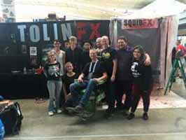 Squib FX crew and Rick Prince at Wizard World