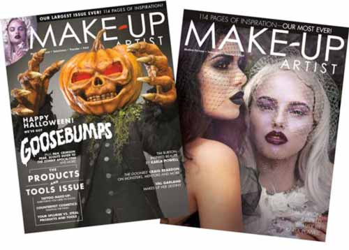 The two covers of Makeup Artist Magazine Issue 116